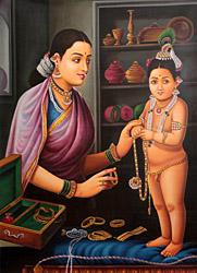 Mother Yashoda Bedecks Krishna