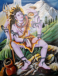Lord Shiva on Kailash