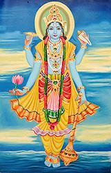 The Blue-Hued Beautiful Lord Vishnu