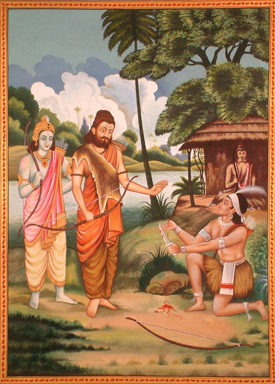 Eklavya Paying Guru Dakshina to Dronacharya (A Poignant Episode ...