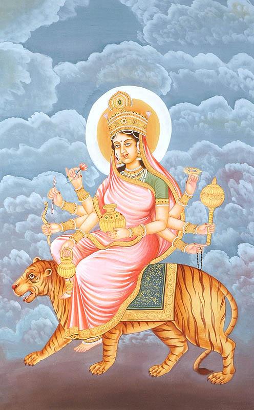 Navadurga - The Nine Forms of Goddess Durga - KUSHMANDA (The Fourth)