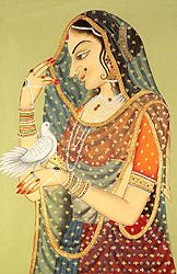 Lady with Messenger Pigeon