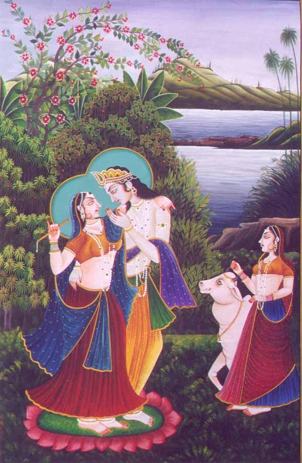 Love Games of Radha and Krishna