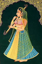 Nayika with a Musical Instrument