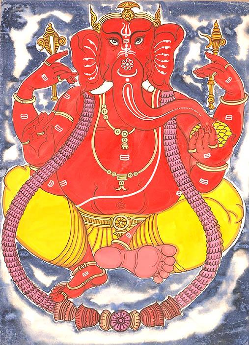 Rakta Ganesha
