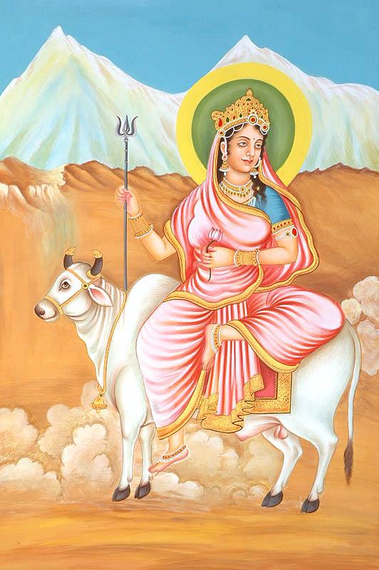 Navadurga - The Nine Forms of Goddess Durga - SHAILAPUTRI (The First)