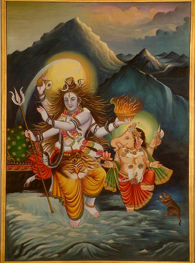 Shiva and Ganesha