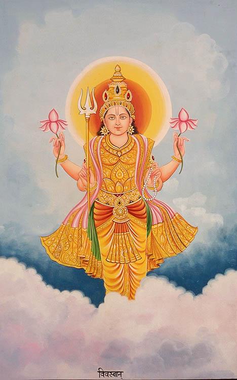 The Twelve Forms of the Sun (Surya) - VIVASVAN