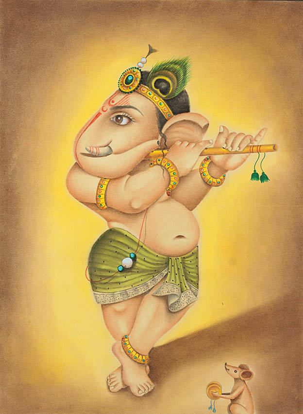 Fluting Baby Ganesha