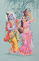 Shri Krishna Teasing Radharani