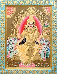 Goddess Lakshmi Raining Coins