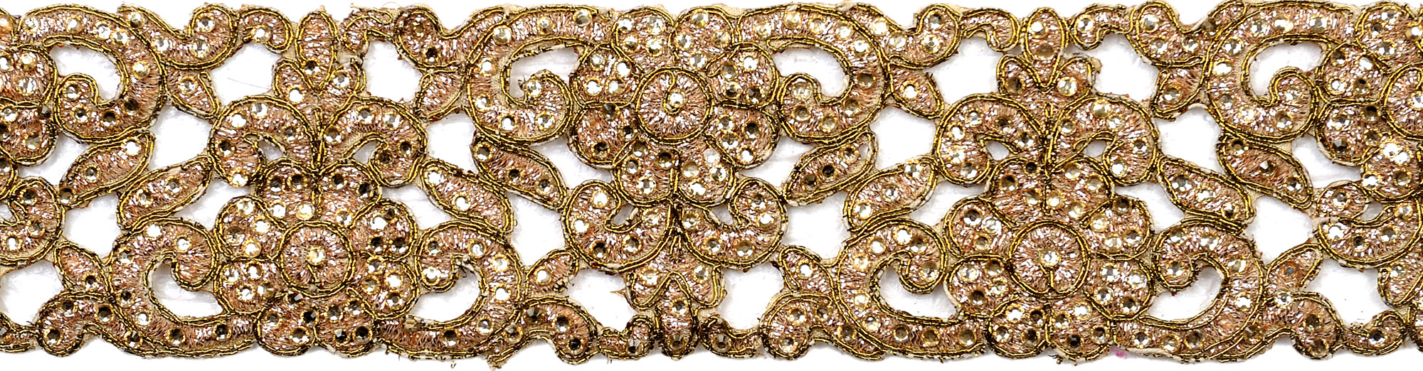 Golden zardozi broder with metallic thread embroidery by hand
