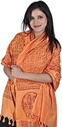 Hare Rama Hare Krishna Hindu Prayer Shawl