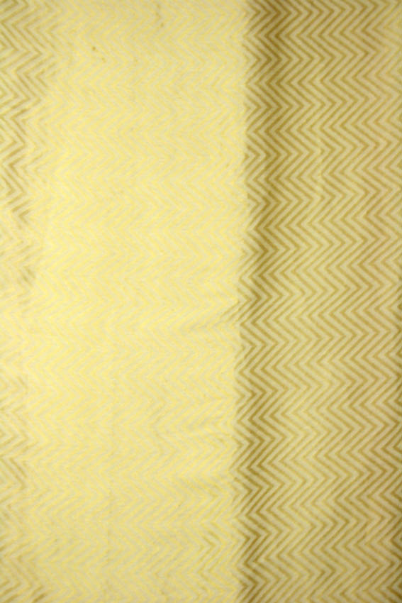 Ivory Chiffon Handloom Fabric with Golden Thread Weave