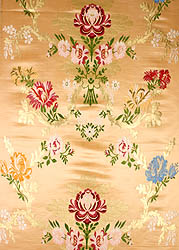 Peach Tibetan Lotus Brocade