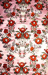 Pink Hand-woven Brocade with An Array of Roses