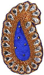 Paisley Velvet Patch with Beadwork