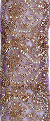 See-Through Border with Crystals and Metallic Thread Embroidery