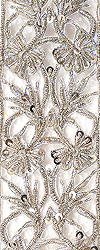 Cutwork Zardozi Floral Border Embroidered by Hand