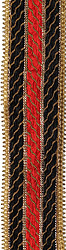 Black and Red Fabric Border with Gota and Sequins