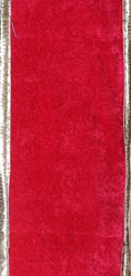 Plain Velvet Fabric Border with Gota Patch
