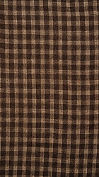 Bracken-Colored Tweed Fabric from Kullu with Woven Checks