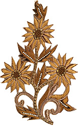 Sun-Flower Patch with Ari Embroidery and Stone Work