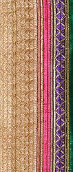 Copper-Colored Border in Metallic Thread