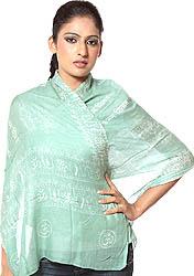 Green Om Namoh Shivai Scarf