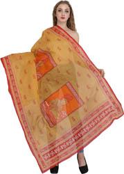Radhey Radhey Prayer Shawl with Printed Little Krishna
