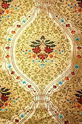 Tibetan Floral Brocade Densely Woven with Golden Thread