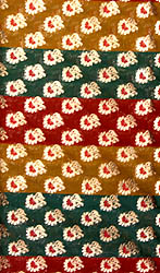 Tri-Color Handloom Fabric with Small Woven Flowers