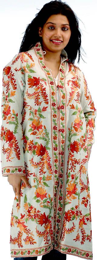 embroidered silk jacket - ShopWiki