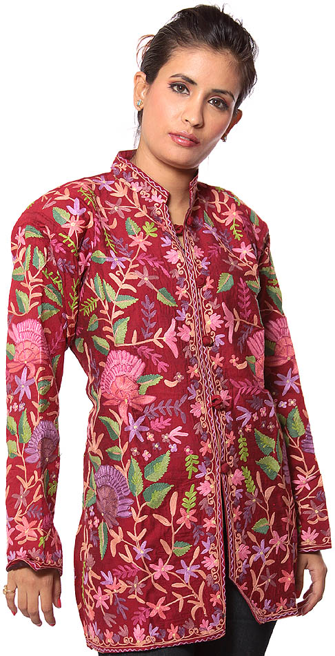 KASHMIRI EMBROIDERED JACKETS - EMBROIDERY DESIGNS