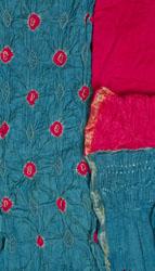 Bandhani Tie-Dye Salwar Kameez Fabric from Jodhpur