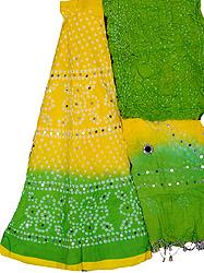 Bandhani Lehenga Choli from Jaipur with Large Sequins