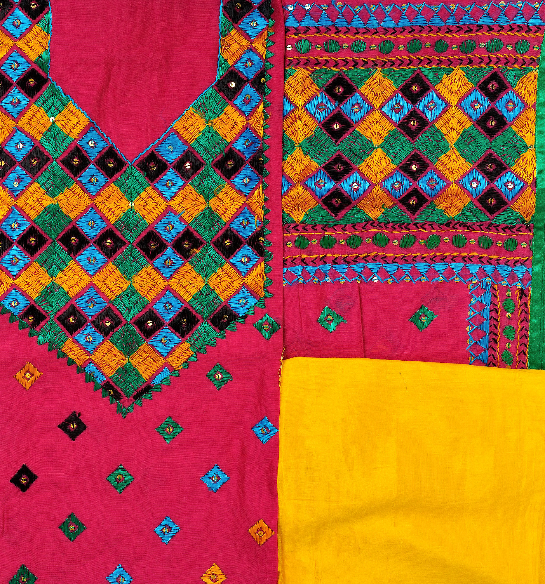 Pictures of phulkari embroidery