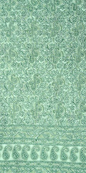 Pastel-Green Salwar Kameez Fabric from Lucknow with Chikan Hand-Embroidered Paisleys