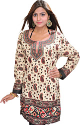 Casual Kurti with Printed Paisleys