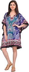 Floral Printed Short Kaftan with Dori at Waist
