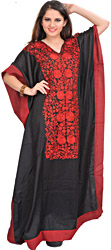 Kaftan from Kashmir with Ari Floral Embroidery