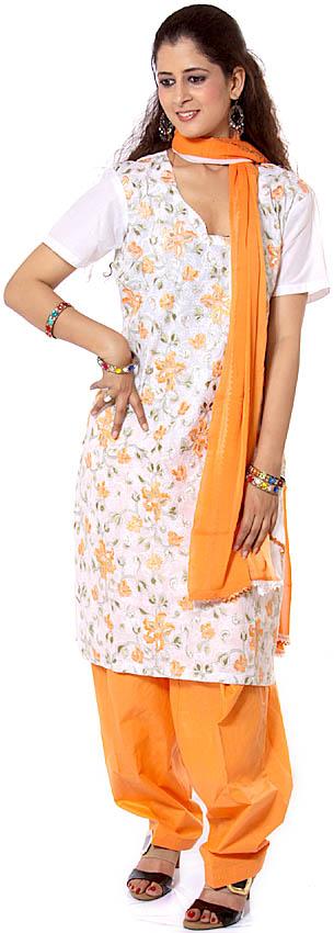 Orange Salwar