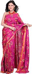 Festival-Fuchsia Patan Patola Sari with Ikat Weave