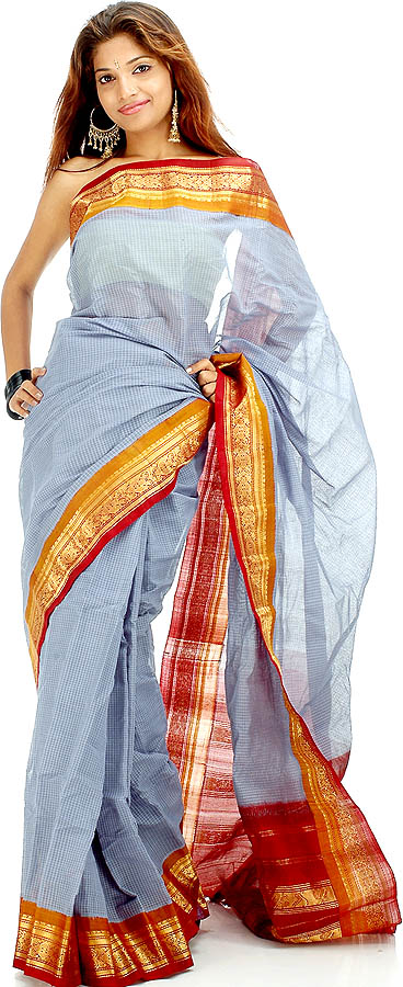 Image credit: http://www.exoticindiaart.com/saris/handwoven_gadwal_cotton_sari_with_real_silver_zari_ye89.jpg