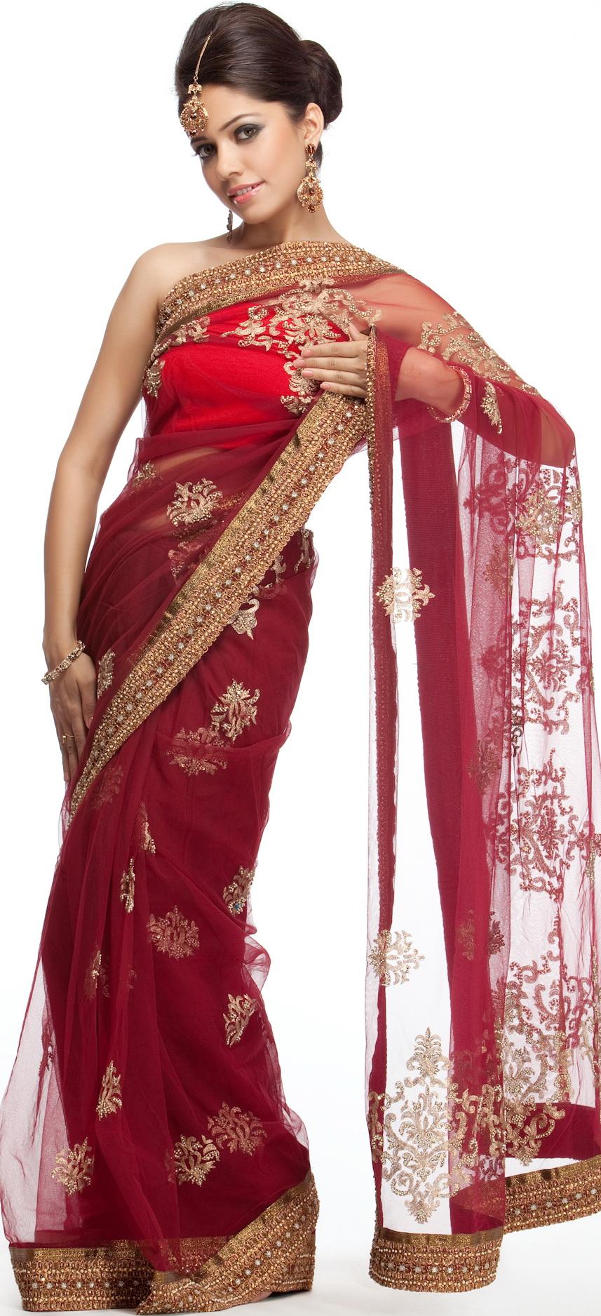 Varanasi Pure Silk Net Designer Sari
