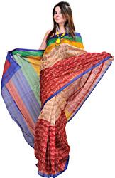 Bhagalpuri Sari with Printed Hand Mudras