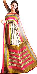 Multi-Color Bhagalpur Sari with Geometric Print