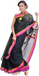 Black Banarasi Sari with Designer Kadwa Anchal