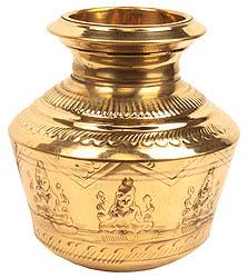 Large Ashtalakshmi Puja Kalasha