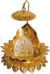 Shri Yantra on a Chowki with Umbrella